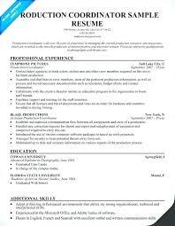 Procurement Coordinator Resume Sample Production Resume Cover Letter
