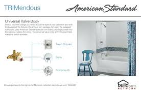 american standard tub spout standard chrome tub and shower trim package with single function shower head american standard tub spout