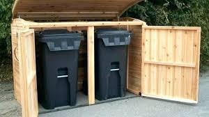 outdoor trash can storage outdoor garbage can storage bin outdoor garbage bin storage trash with regard