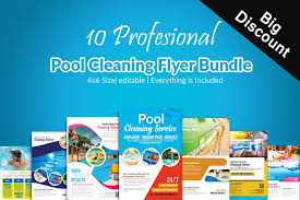 pool service flyers. 10 Pool Cleaning Service Flyers Bundle Example Image .