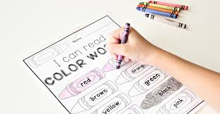 The colorful paper can make every kids love to play with it, know something. Color Words Free Printable The Kindergarten Connection