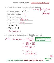 Pre Calculus Homework Answers   Six Best Options To Try opaquez com