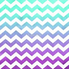 Purple Mint Aqua Ombre Chevron Pattern