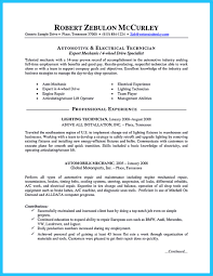 Industrial Maintenance Resume Examples Car Mechanic Picture Resume