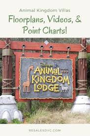 Animal Kingdom Lodge Point Chart 21 Best Animal Kingdom Villas Dvc Images Disney Vacation