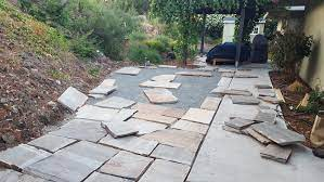 weekend project diy flagstone patio