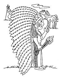 Cowboy En Indianen Kleurplaten Indiaan