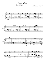 Find your perfect arrangement and access a variety of transpositions so you can print and play instantly, anywhere. Heart Soul Sheet Music For Piano Solo Musescore Com