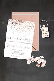 Reserve The Date Cards Modern Save The Date Cards Simple Save The Date Invitations Rose