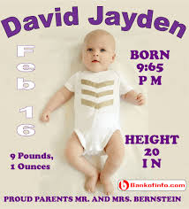 Sample Baby Announcement New Born Baby Announcement Letter Sample