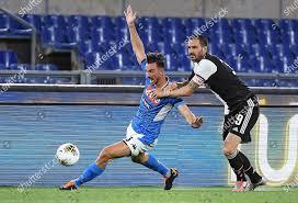 Napolis Fabian Ruiz L action against Juventus Redactionele stockfoto -  Stockafbeelding