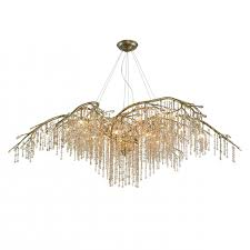 qz990 golden lighting autumn twilight gold silver clear crystal in branch