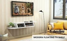 floating wooden modern wall mount