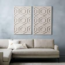 whitewashed wood wall art hexagon  on pictures wall art uk with whitewashed wood wall art hexagon west elm uk