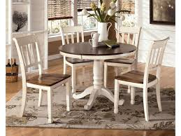 Whitney 5 Piece Two Tone Cottage Round Table Set Rotmans Dining