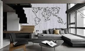 Geometric World Map Metal World Map Wall Art Metal Wall