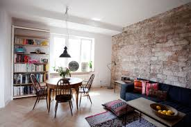 Small Apartment In Warsaw Cool Small Studio Apartment Brick Home