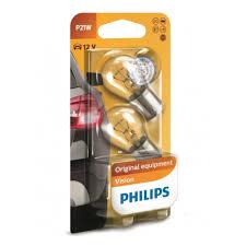 <b>Лампа</b> накаливания <b>PHILIPS P21W</b> Vision 12V 21W, 2 шт, 12498B2