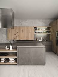 Fitted Kitchen With Island Without Handles CLOE COMPOSITION - Kitchens and more