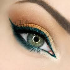 eyeshadow for blue green eyes peach and pea