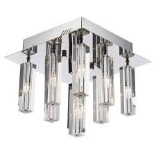 dar gal1350 galileo 9 light flush ceiling fitting polished chrome crystal glass