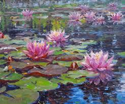 barbara jaskiewicz landscape painting water lilies