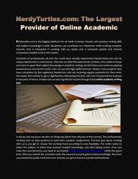 nerdy turtlez best platform for academic writing jobs online in  nerdyturtlez the largest provider of online academic in