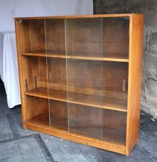 ikea applied your bookcase sliding door vintage retro glass front solid oak display book bookshelf bookcases with doors dining