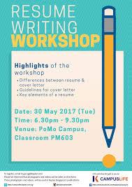 Resume Writing Classes Awesome event Details Resume Writing Workshop   Kaplan Campuslife
