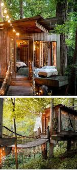 Look at all the lights! secret garden should have a pretty tree house like  this for children and warm ...