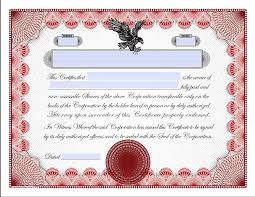 Blank Stock Certificate Template Free | News-Alwaled : News-Alwaled