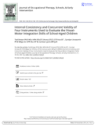 the revised developmental test of visual motor integration its relation to the vmi wisc r and bender gestalt for a group of elementary aged learning