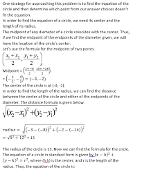 the equation of a circle sat math