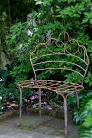 Wrought Iron French Courting Bench  Metal SeatingOutdoor Wrought Iron Bench