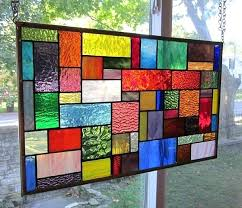 stained glass window art ks2 hanging panel