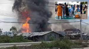 ระทึกท่อส่งแก๊สระเบิดเจ็บกว่า 50 รายเสียชีวิต 3 รายบ้านและรถถูกเผากว่า 50  คัน - 77 ข่าวเด็ด