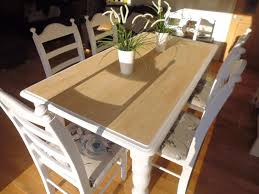 shabby chic 6ft farmhouse pine dining table and 6 dining