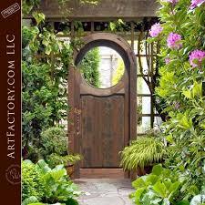 custom harvest moon gate solid wood