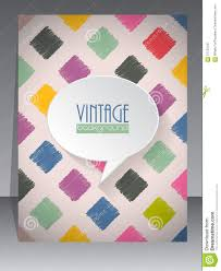 Cool Cover Designs Cool Vintage Retro Scrapbook Cover Design Stock Vector