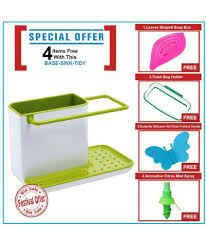 Kitchen Sink Tidy Self Draining Sink Caddy With Base Stand Organizer