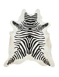off white area rug. Zebra Cowhide Black/Off White Area Rug Off