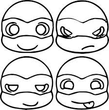 Small Picture Cute Ninja Turtle Head Coloring Page Cartoons Variety