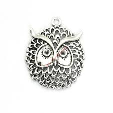 2019 antique silver plated owl charms pendants for bracelet jewelry making diy necklace craft 48x38mm from beijia2016 12 91 dhgate com