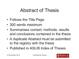 finishing and producing your ph d thesis ppt video online  13 abstract