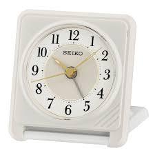 seiko clock travel alarm clock qht016w
