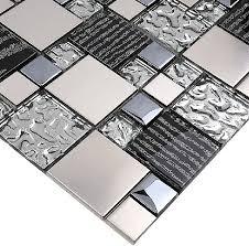 silver metal mosaic stainless steel tile kitchen backsplash wall tiles ssmt114 glass mosaic tile glass tiles