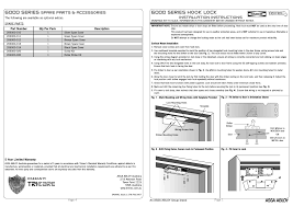 trimec es6000 hook lock user manual 2 pages