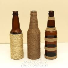 twine wrapped bottles 24 creative uses for beer bottles