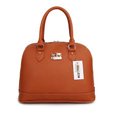 Perfect Coach City In Logo Medium Brown Satchels Bib Sale UK N2P6G