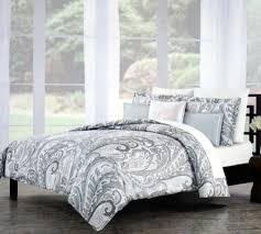 3 piece cotton king duvet cover set by nicole miller bedding with paisley pattern for bedroom